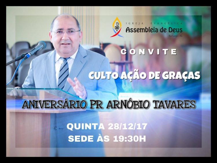 Convite Igreja Em Rio Largo Fará Comemoração Do Aniversário Do